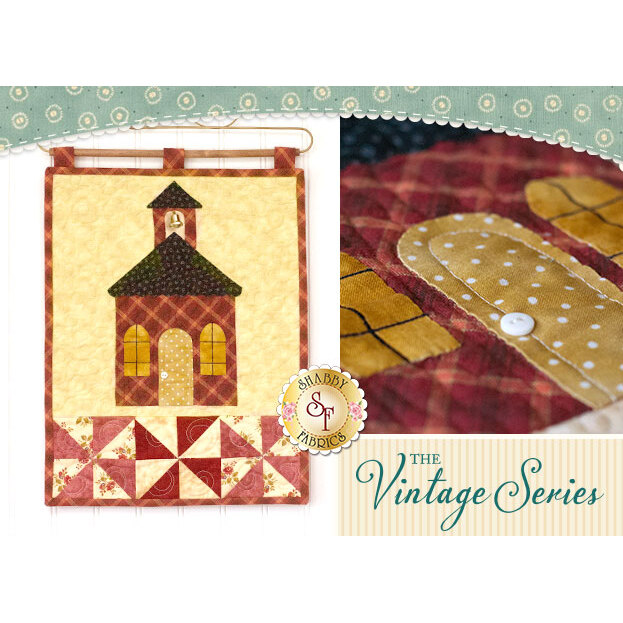 Vintage Schoolhouse Wall Hanging - September -  Laser Cut Kit | Shabby Fabrics