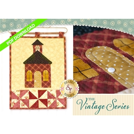 Vintage Schoolhouse - Wall Hanging Pattern - PDF DOWNLOAD