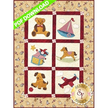 Vintage Toybox Pattern - PDF Download