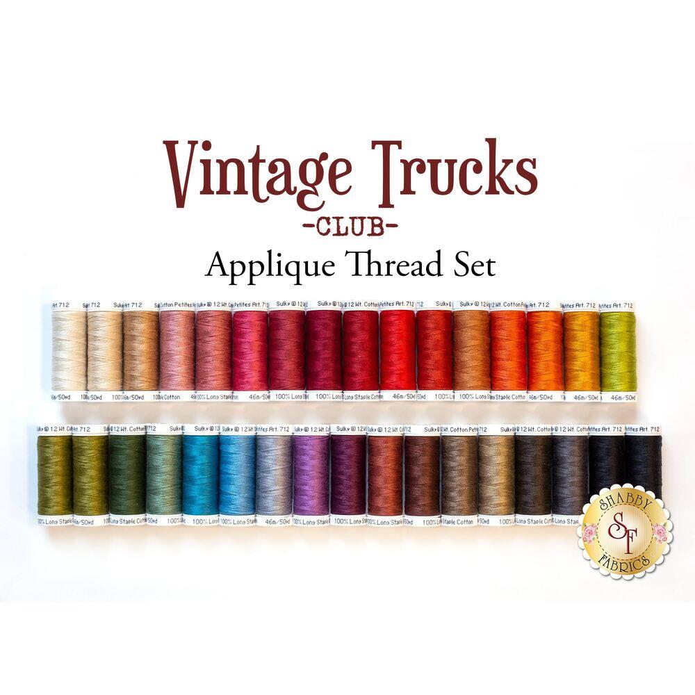 Vintage Trucks Club - Sulky Applique Threadset 33pc