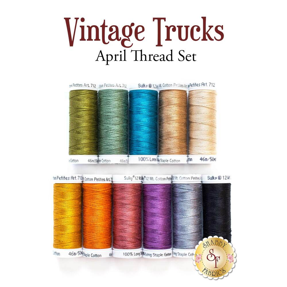 Vintage Trucks - April - 11pc Thread Set