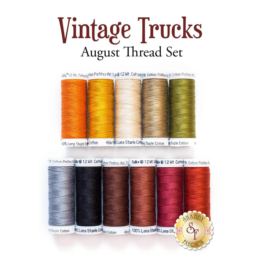 Vintage Trucks - August - 11 pc Thread Set