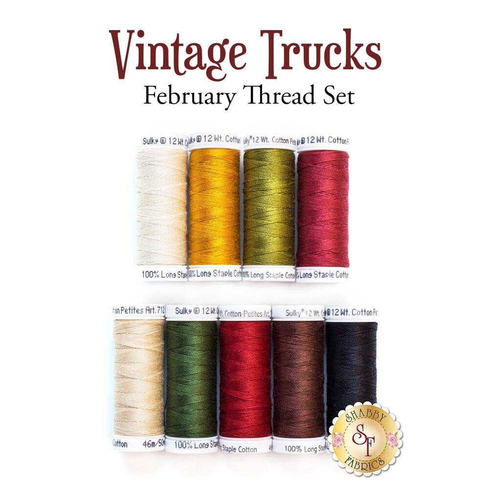 Vintage Trucks - February - 9 pc Thread Set