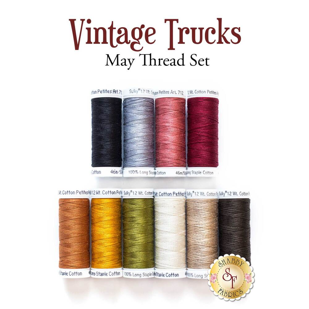 Vintage Trucks Series - May Thread Set - 10pc