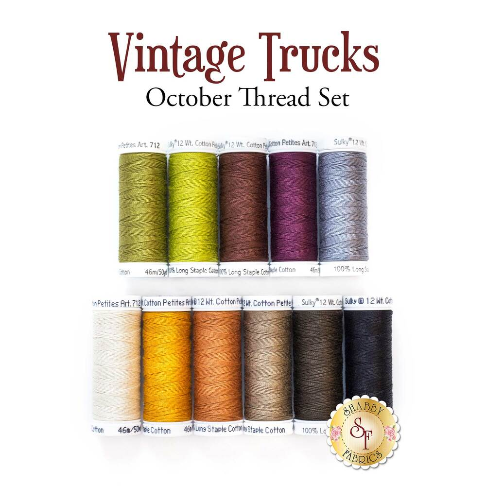 Vintage Trucks - October - 11 pc Thread Set