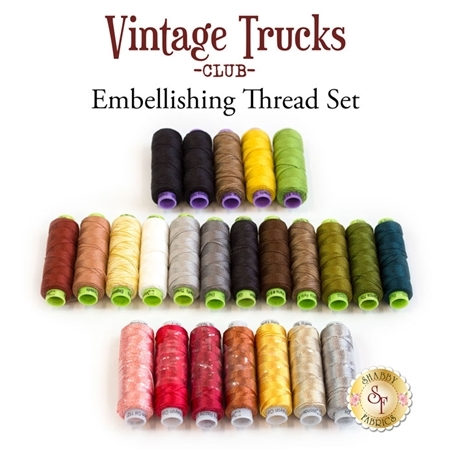 Vintage Trucks Club - 24pc Embellishing Thread Set