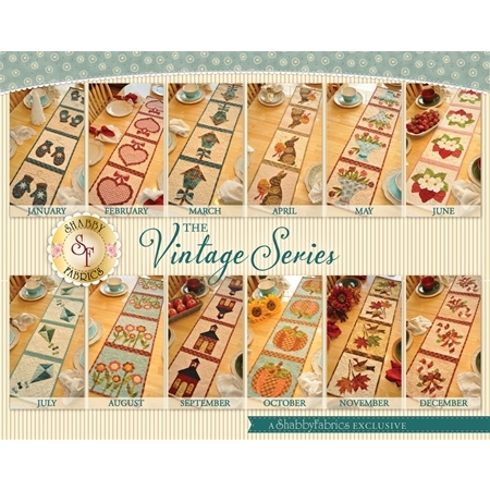 The Vintage Series Table Runners - Set of 12 Patterns