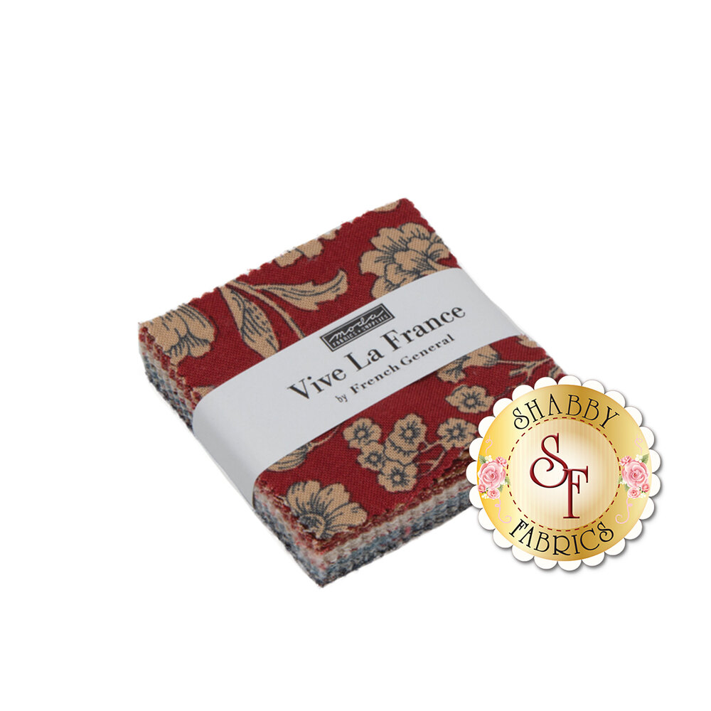 Vive La France  Mini Charm Pack by French General for Moda Fabrics