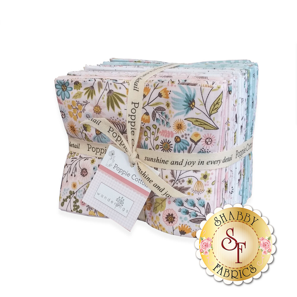 The fat quarter bundle featuring the Wanderings collection | Shabby Fabrics