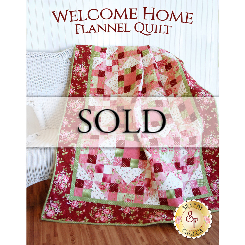 Welcome Home Flannel Quilt - SAMPLE QUILT