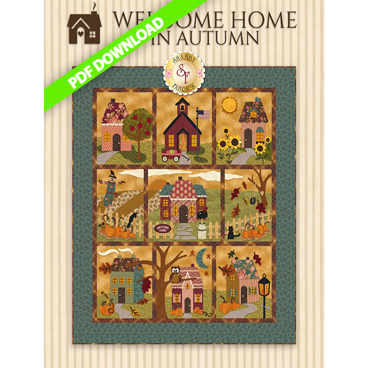 Welcome Home In Autumn - Pattern PDF DOWNLOAD