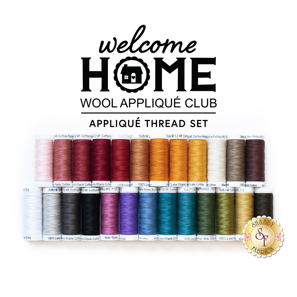 Welcome Home Wool Club - 25pc Applique Thread Set