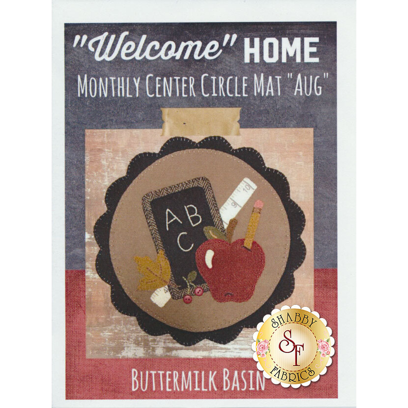 Welcome Home Center Circle Mat - August Pattern available at Shabby Fabrics