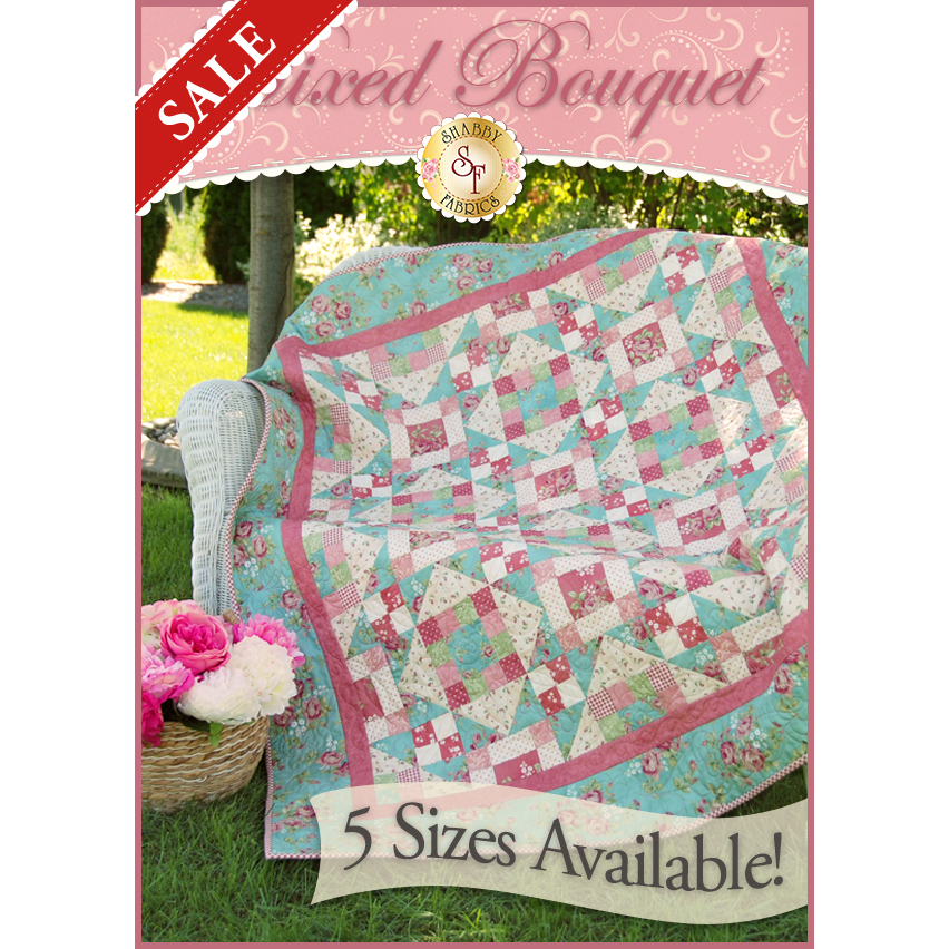 Mixed Bouquet Pieced Quilt Kit - 5 SIZES!