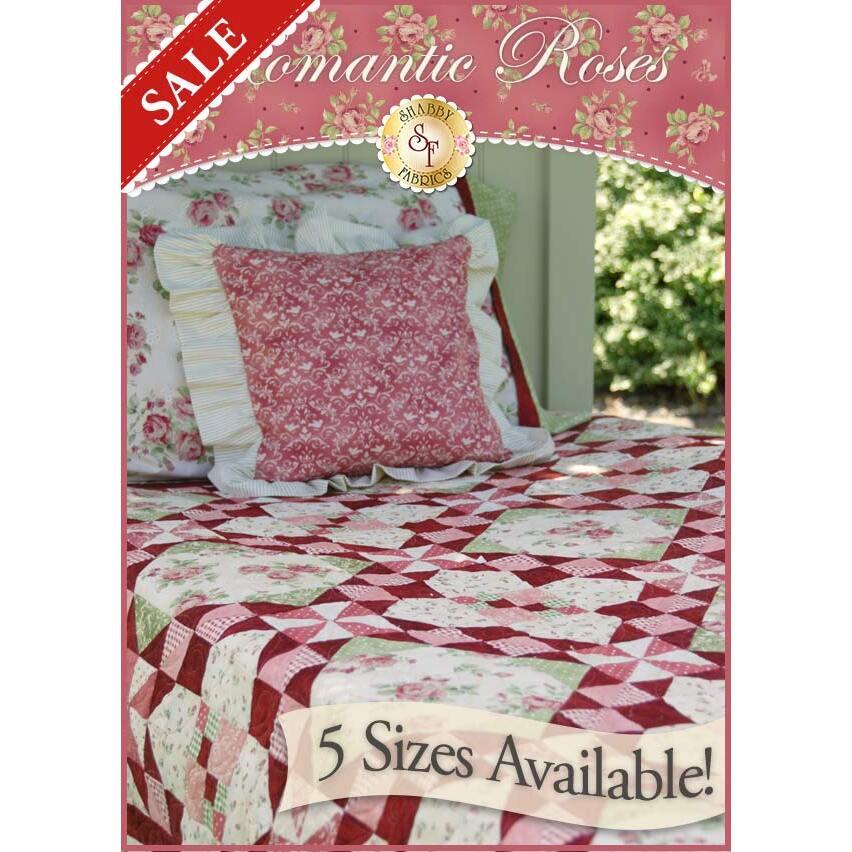 Romantic Roses Pieced Quilt Kit - 3 SIZES!