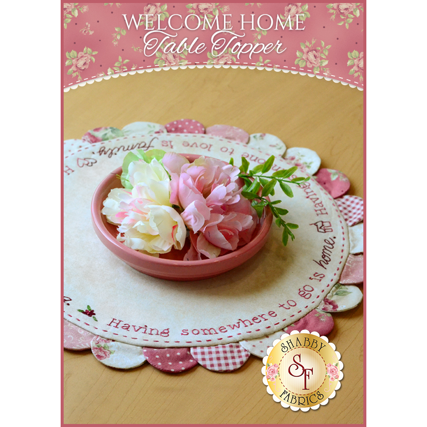 Welcome Home Table Topper Pattern