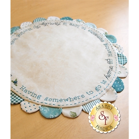 Welcome Home Table Topper - Teal Kit