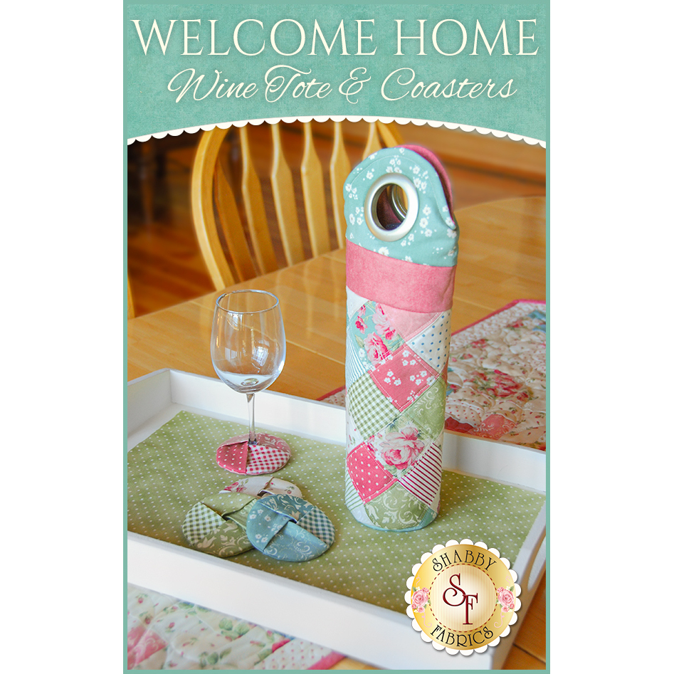 Welcome Home Wine Tote & Coasters Pattern