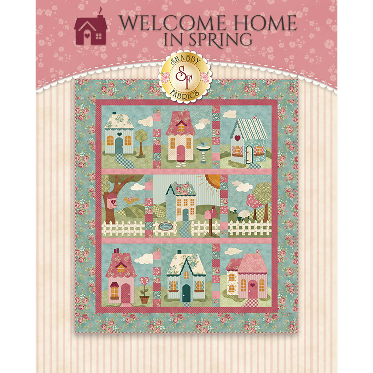 Welcome Home In Spring Quilt displayed | Shabby Fabrics
