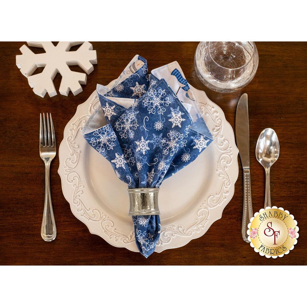 Cloth Napkins Kit - Welcome Winter - Makes 4 at Shabby Fabrics