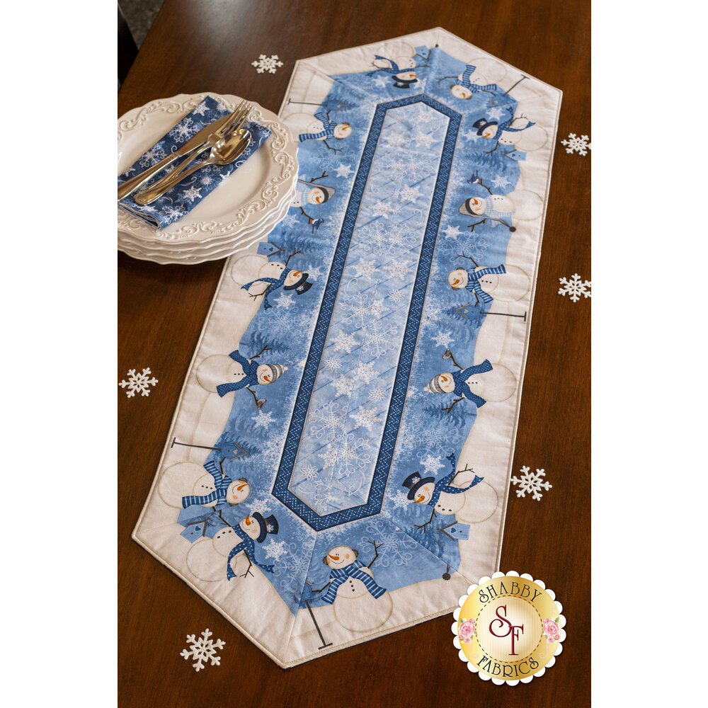 Welcome Winter Easy Striped Table Runner Kit at Shabby Fabrics