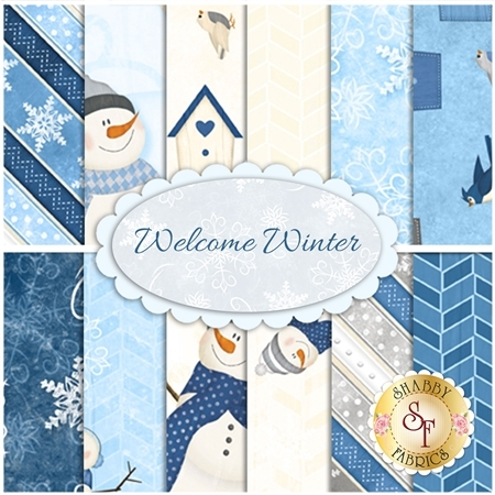 Welcome Winter  Yardage by Wilmington Prints