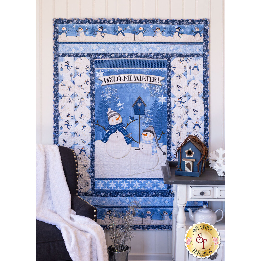 Welcome Winter Throw Quilt Kit