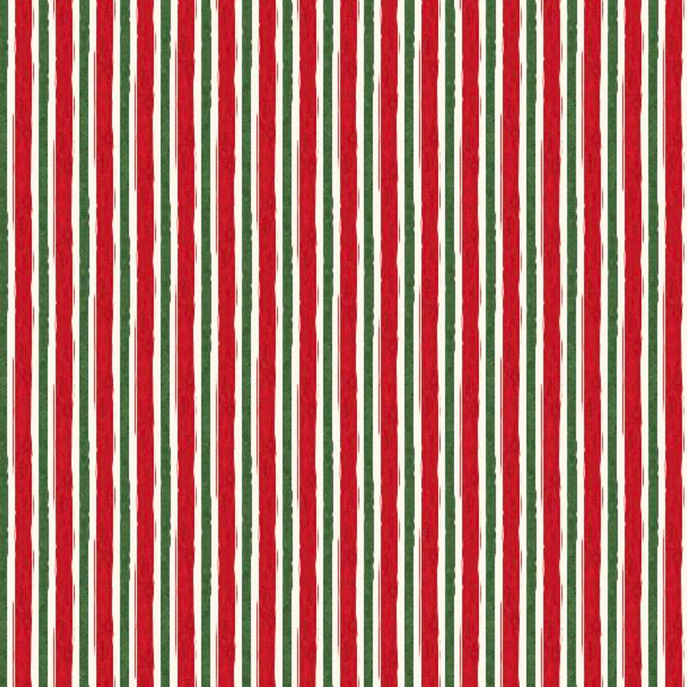 Red, green, and white striped fabric