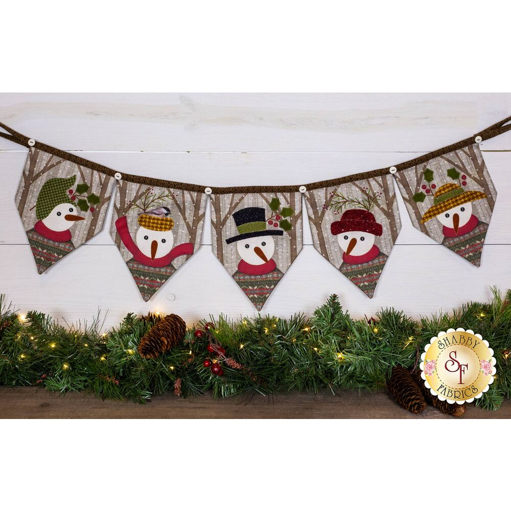 Winter Friends Banner Kit available at Shabby Fabrics