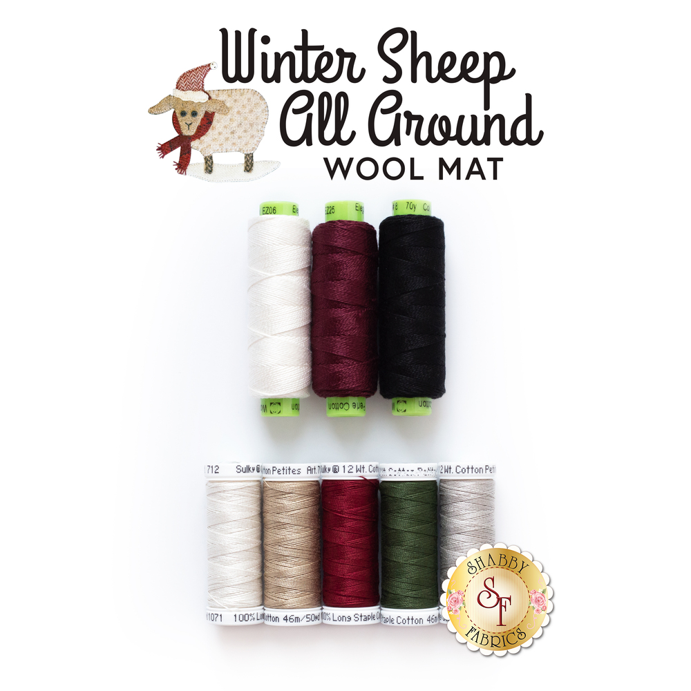 Winter Sheep All Around - 8pc Thread Set | Shabby Fabrics