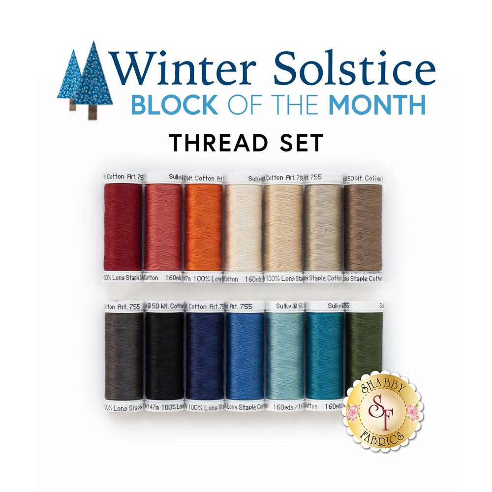 The Winter Solstice 14pc Thread Set | Shabby Fabrics