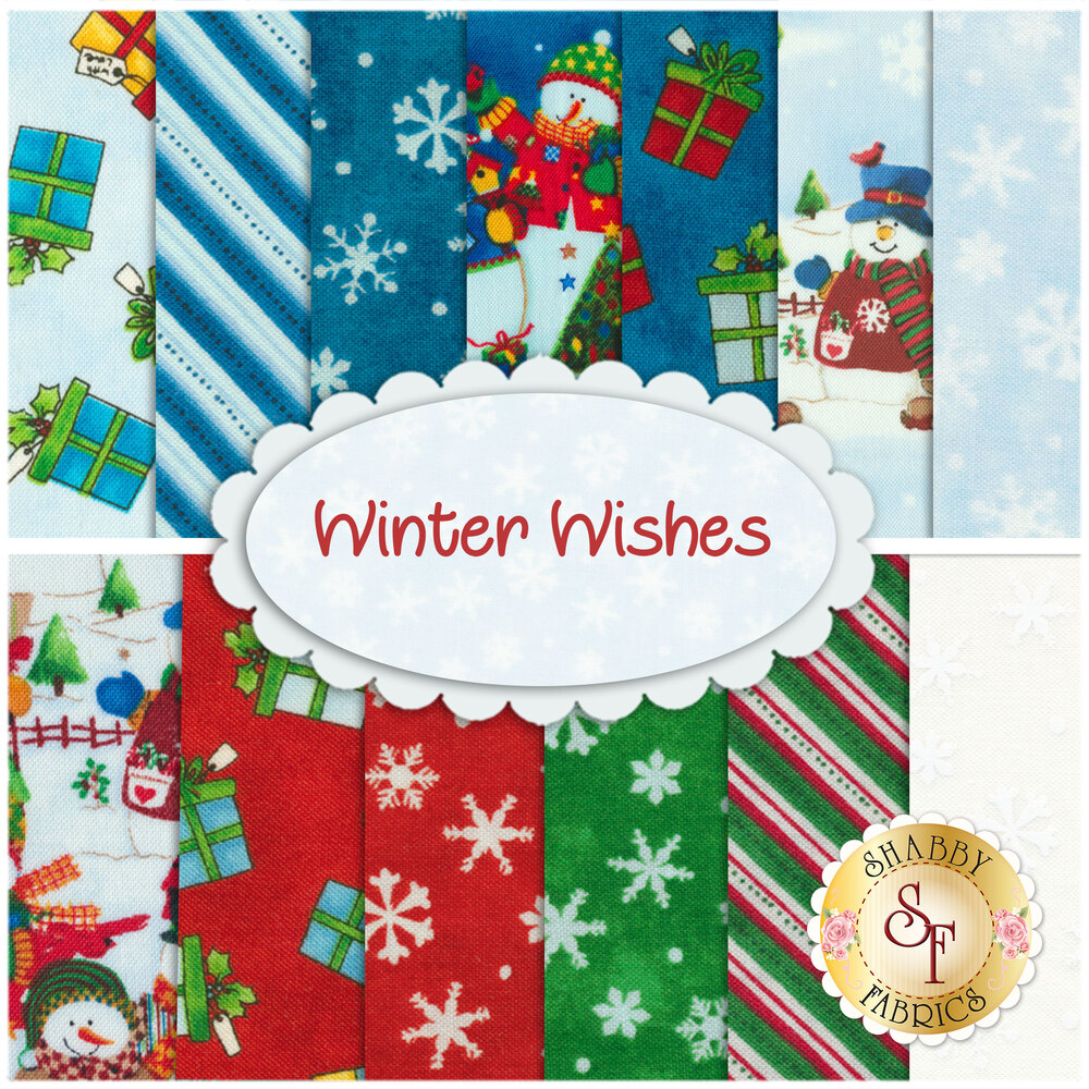 Winter Wishes  13 FQ Set by Windham Fabrics from Whistler Studio