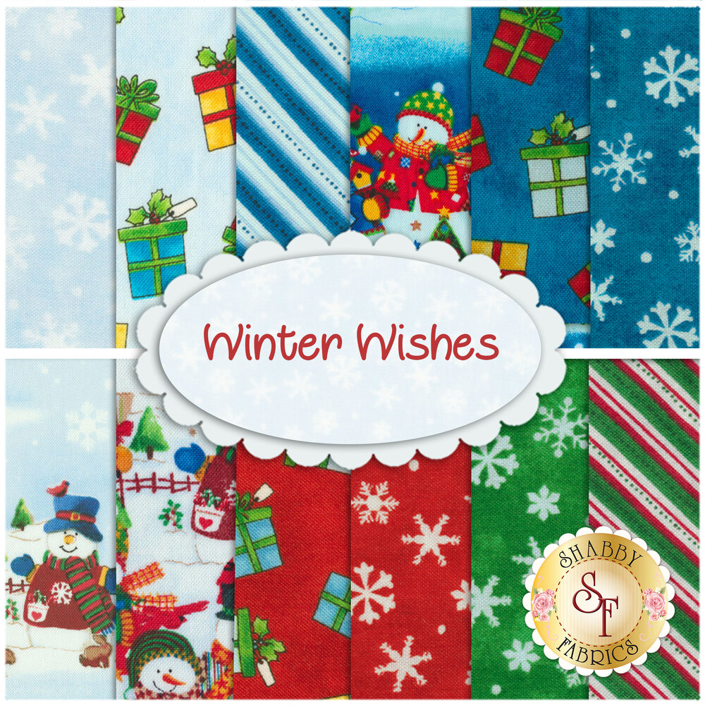 Winter Wishes  12 FQ Set by Windham Fabrics from Whistler Studio