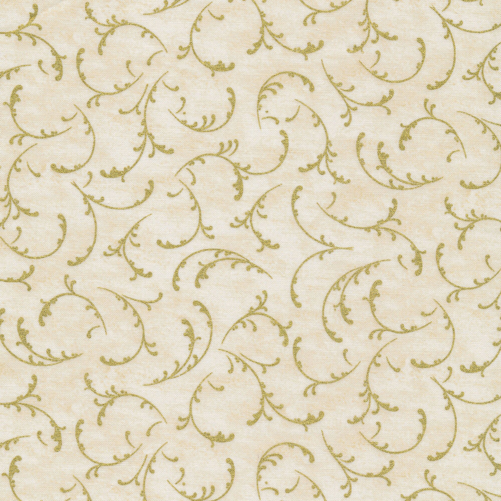 Metallic designs on an ivory background