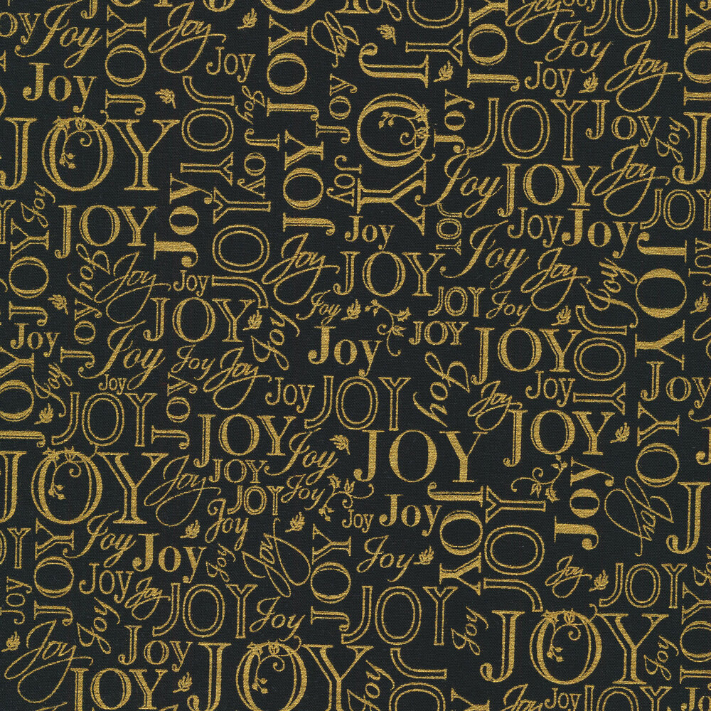 Metallic words on a black background