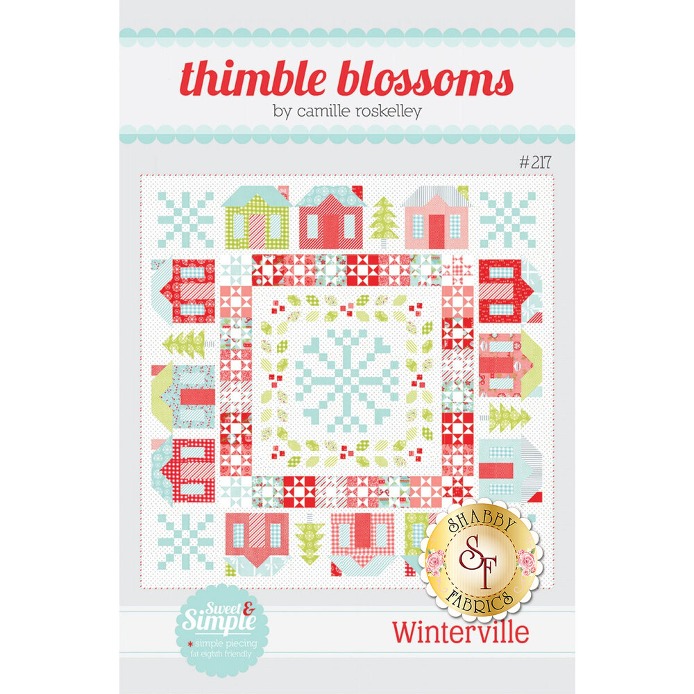 The front of the Winterville Pattern showing the finished quilt | Shabby Fabrics