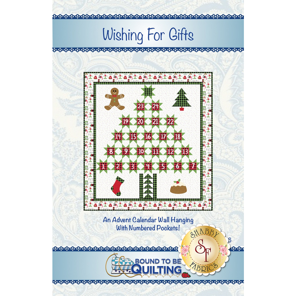 Wishing For Gifts Advent Calendar Wall Hanging - Pattern
