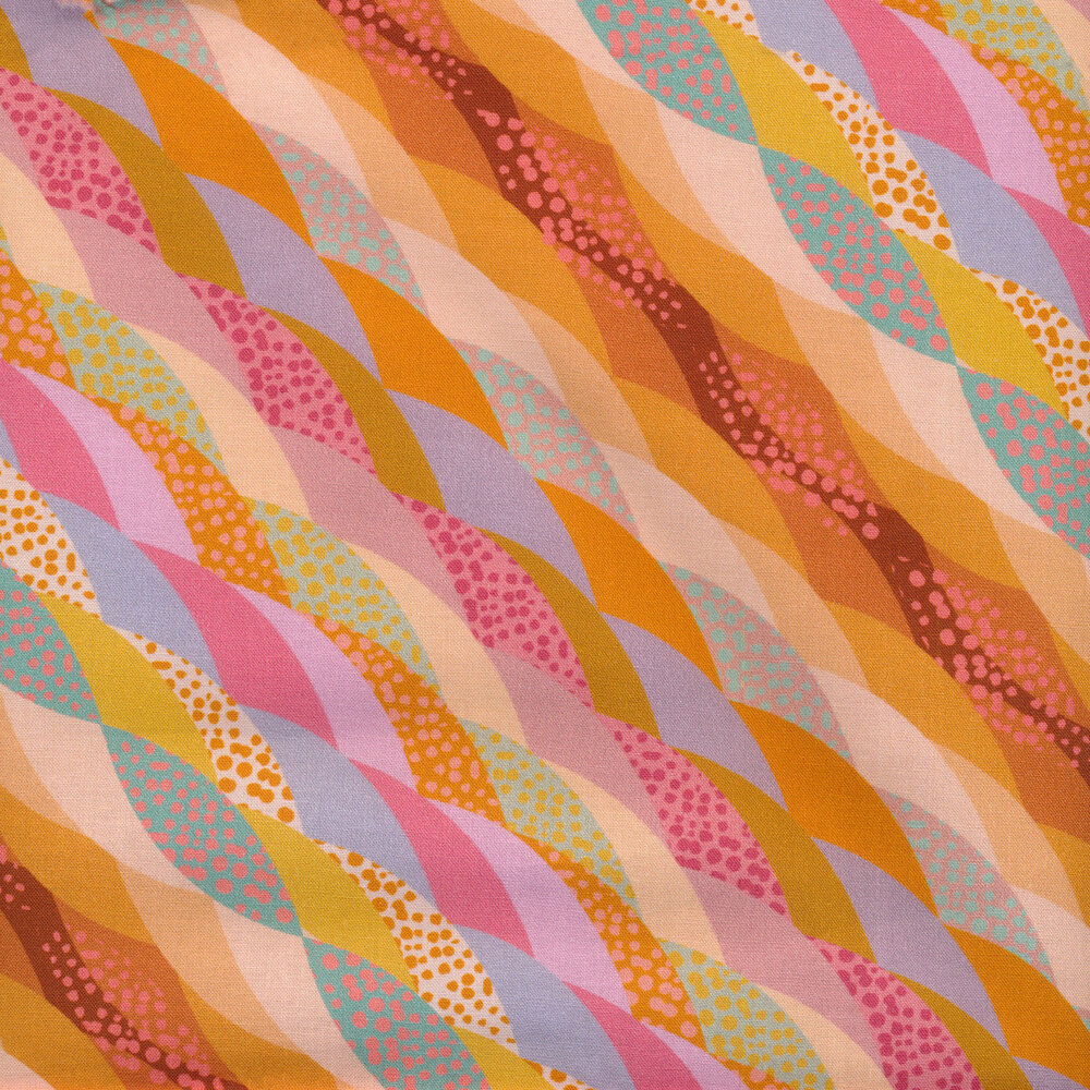 Diagonal colorful stripes with different textures and patterns