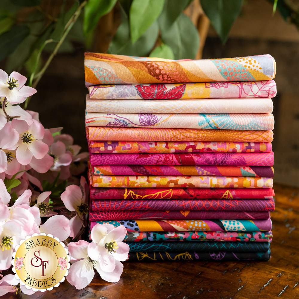 The Wishwell: Loose Leaf fat quarter bundle on a white background