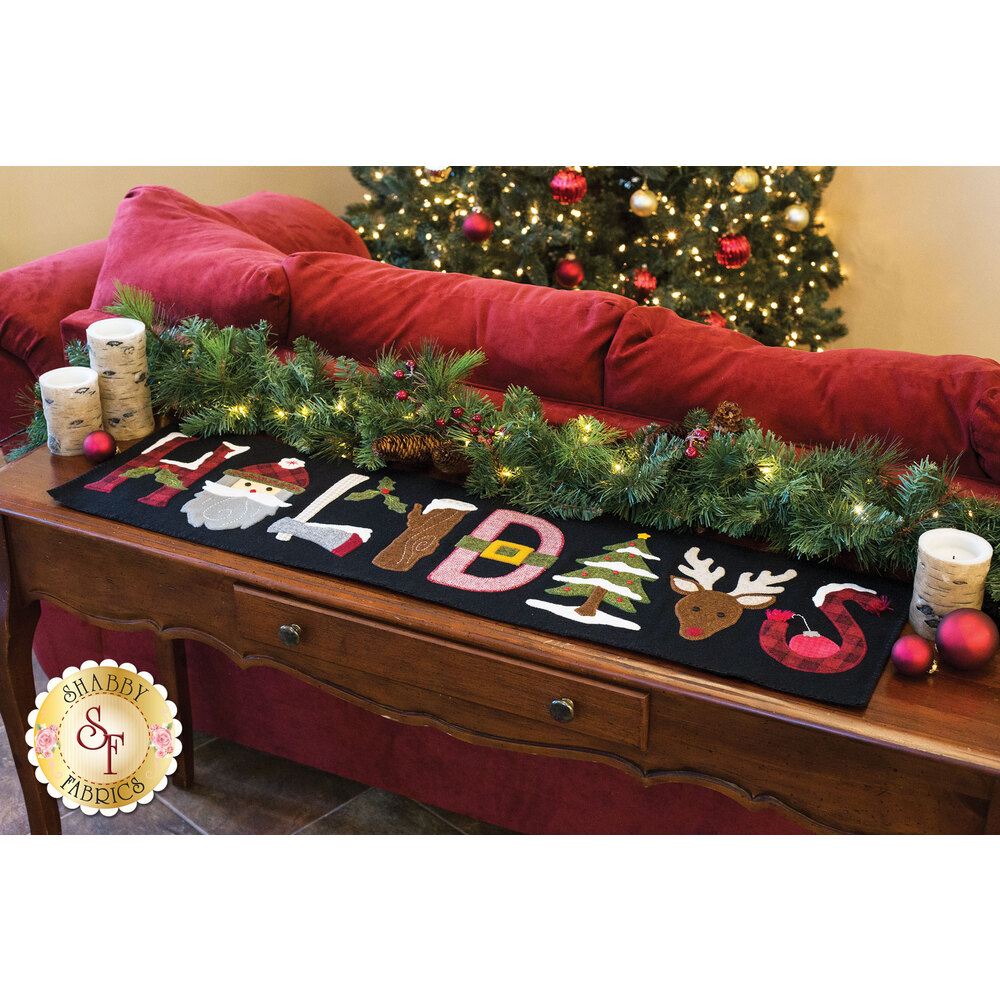 Woodland Holiday Table Runner Kit - In Wool