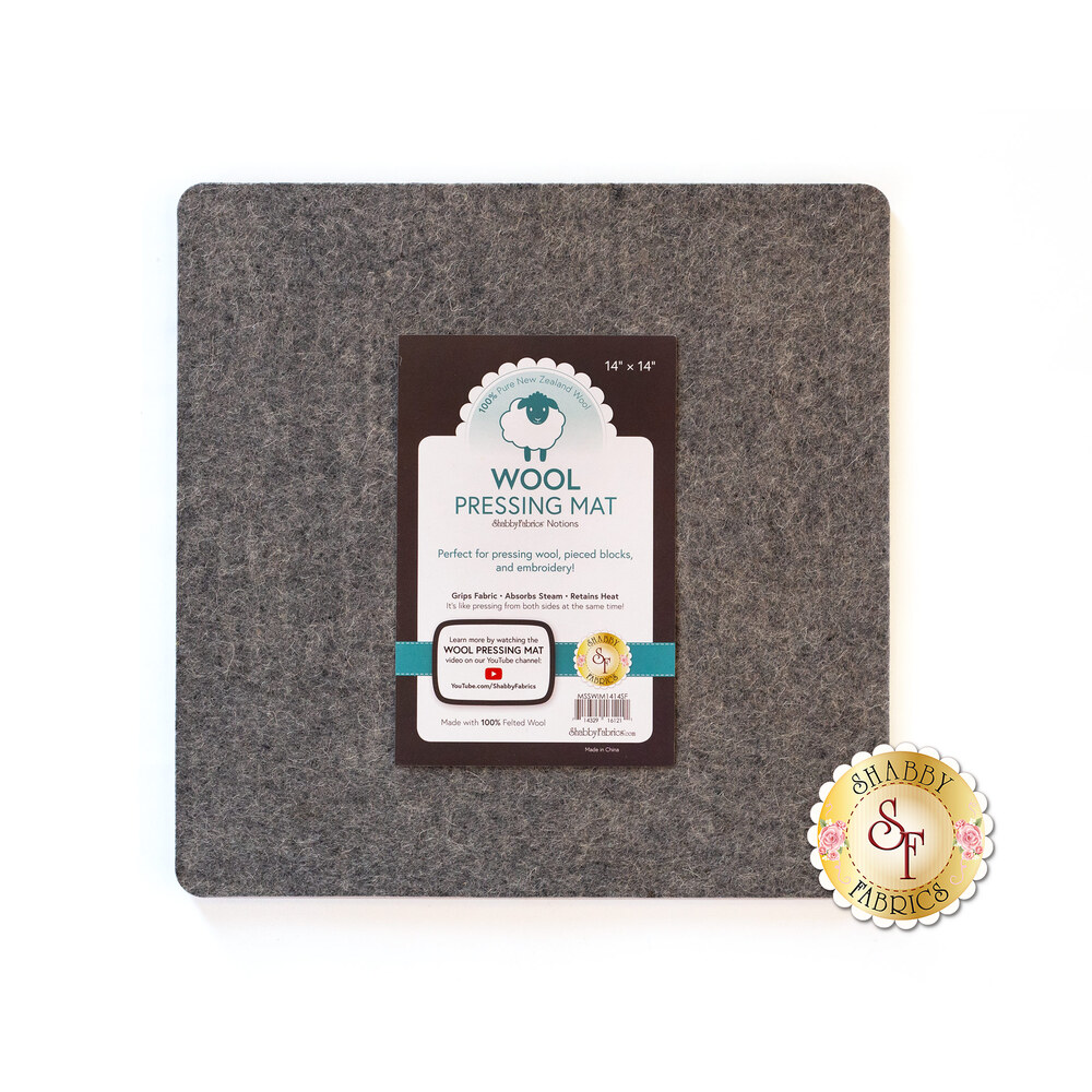 """Felted Wool Pressing Mat - 13½"""" x 13½"""" by The Gypsy Quilter"""