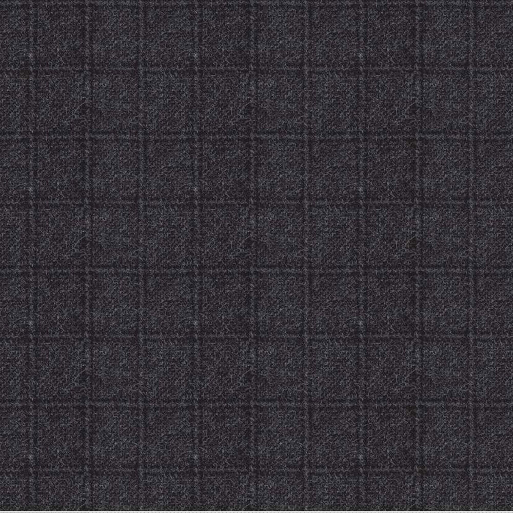 Tonal black square print | Shabby Fabrics