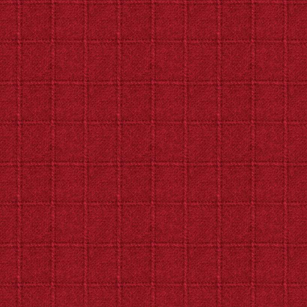Tonal red square print | Shabby Fabrics