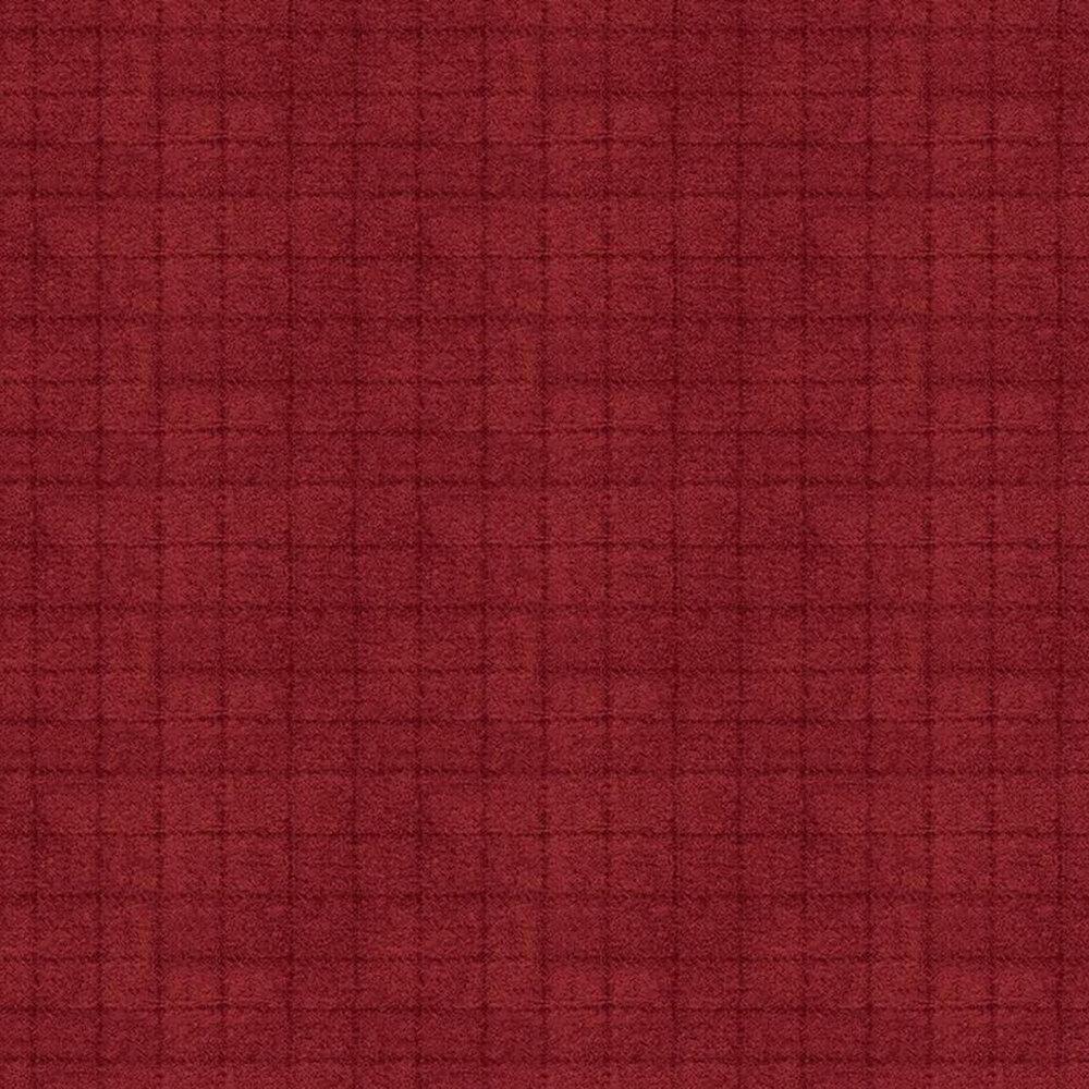 Tonal red small square print | Shabby Fabrics