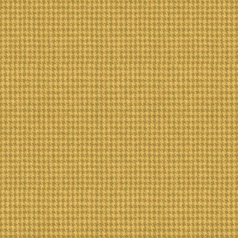 Tonal yellow houndstooth flannel | Shabby Fabrics