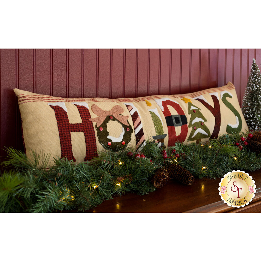 Woolen Holiday Pillow Kit - INCLUDES WOOL! | Shabby Fabrics