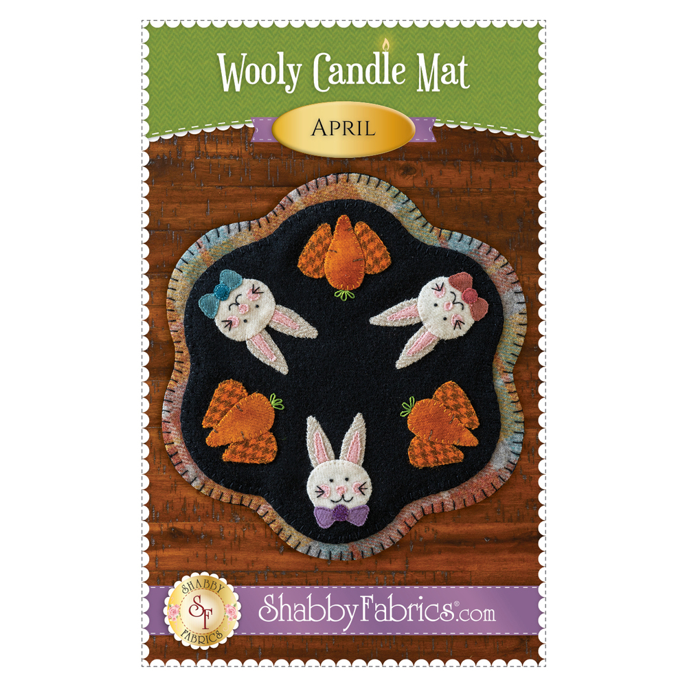 The front of the Wooly Candle Mat - April - Pattern