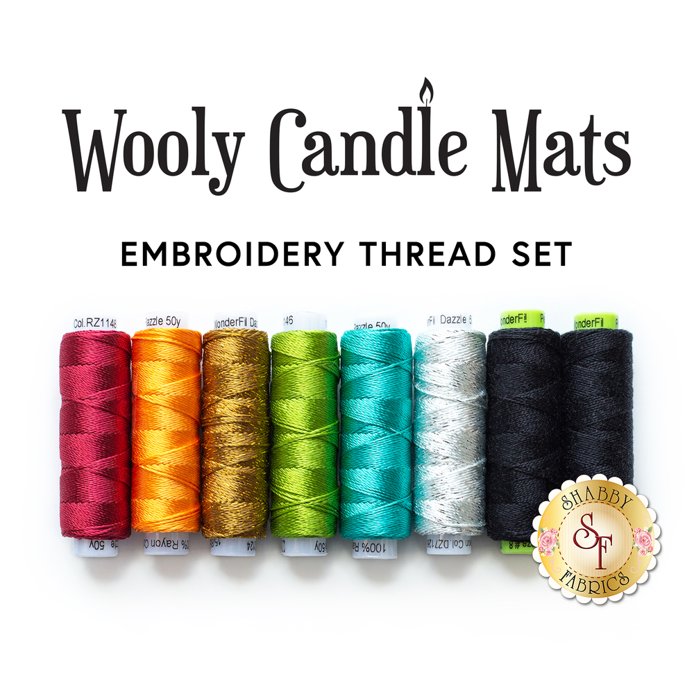 Wooly Candle Mat Club - 8pc Embroidery Thread Set | Shabby Fabrics
