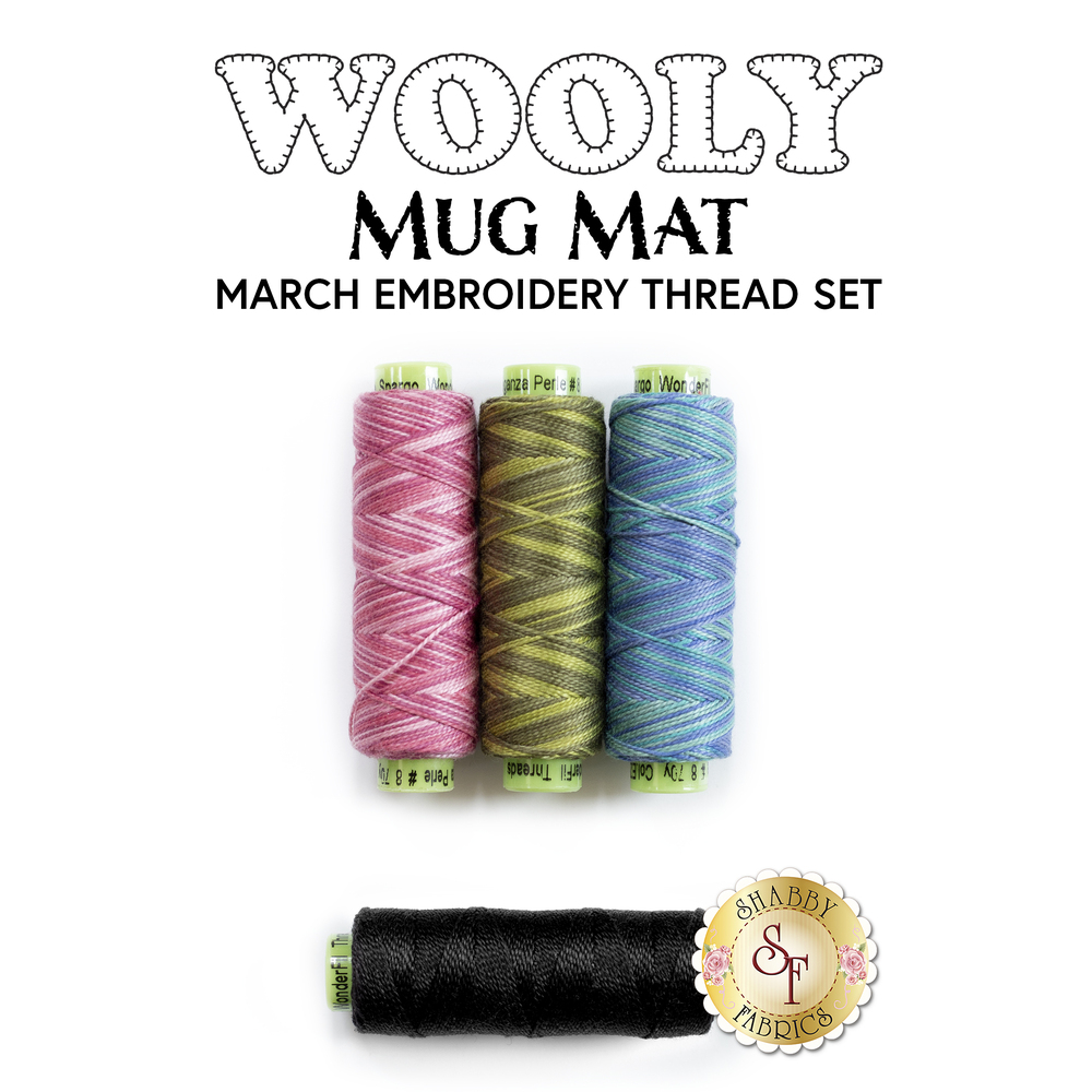 Wooly Mug Mat Series - March - 4pc Embroidery Thread Set