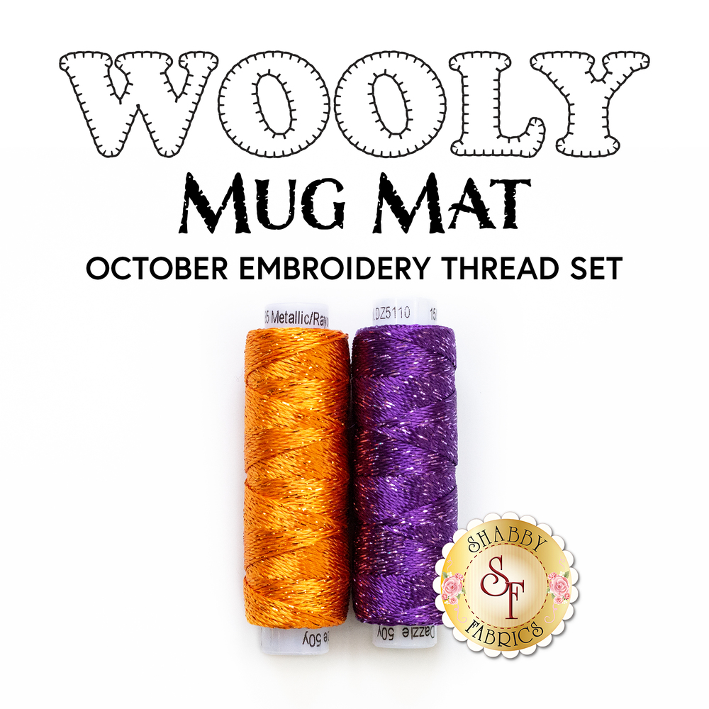 Wooly Mug Mat Series - October - 2pc Embroidery Thread Set | Shabby Fabrics